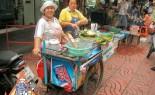 Thai Street Vendor Prepares Fried Fish Cakes, Tod Mun Pla