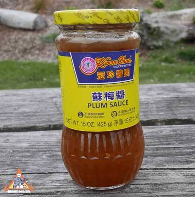 Plum sauce, Koon Chun brand, 15 oz jar