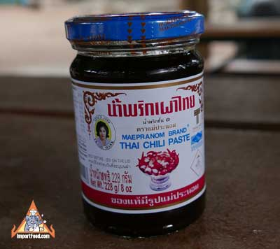 Prik Pao - Roasted Chili in Oil - Mae Pranom Brand