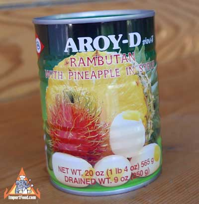 Rambutan with pineapple, Aroy-D, 20 oz can