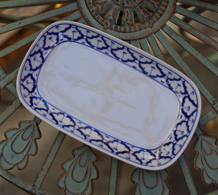 Ceramic, rectangular platter, 10