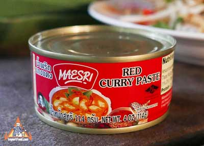 Red Curry Paste, Maesri