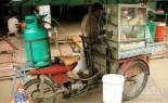 Thai Street Vendor Prepares Egg Noodle and Wonton Soup