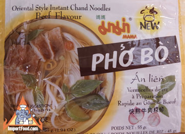 Mama brand, instant chan pho soup