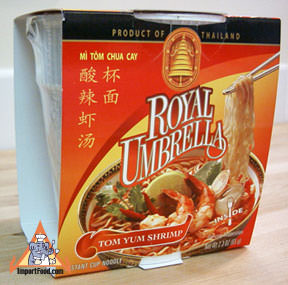 Royal Umbrella cup noodles, tom yum, 12 pack