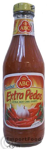 Extra Pedas (Extra Hot) Sambal Sauce, ABC Brand, 11.5 oz