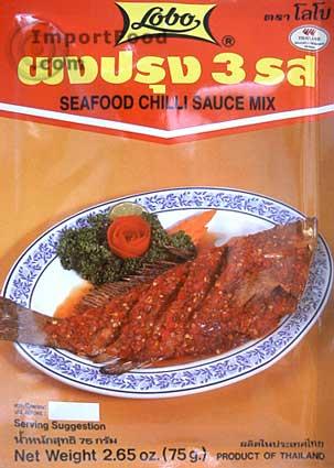Seafood chile sauce mix, Lobo brand, 2.65 oz
