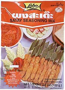 Lobo brand, Satay seasoning mix, 3.5 oz