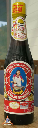 Thai Oyster sauce, Maekrua brand, 12 oz bottle