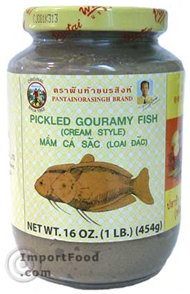 Thai Pickled Mud Fish, 16 oz jar