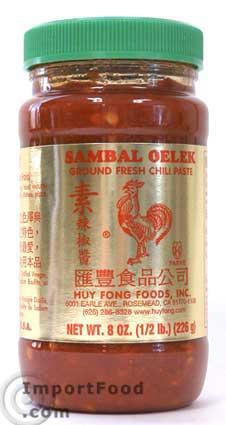 Sambal Oelek, Huy Fong, 8 oz / 18 oz jar