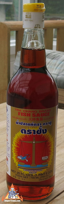 Tra Chang Fish Sauce, Gold Label, 7 oz bottle