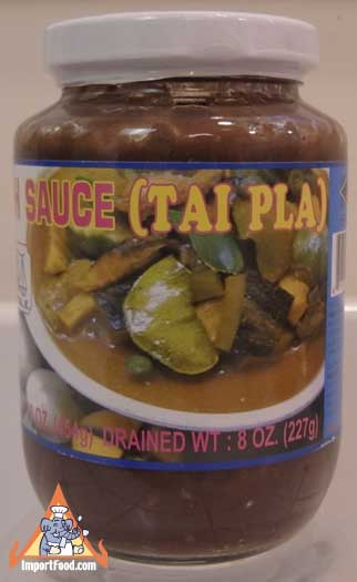 Tai Pla (Pickled Fish Bladder) Sauce, 10 oz jar