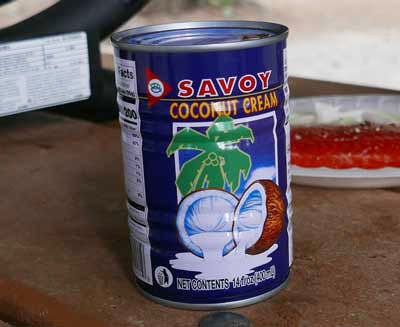 Thai coconut cream, Savoy brand 14 oz can