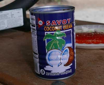 Thai coconut cream, Savoy brand 14 oz can