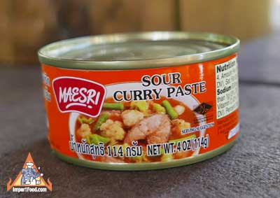 Sour Curry Paste, Maesri, 4 oz can