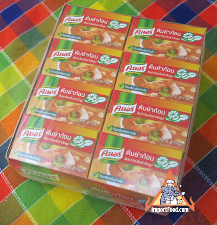 Tom Yum broth, 24 boxes (2 cubes per box)