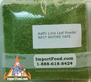 Kaffir Lime Leaf Powder, 1/2 oz pack