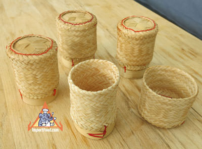 Sticky rice serving basket, 4 in
