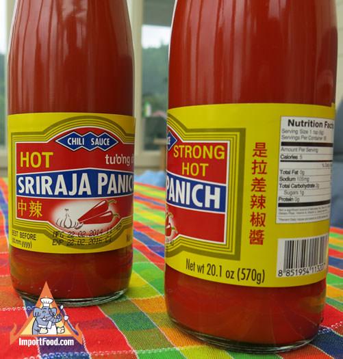 Sriracha Sauce, Sriraja Panich Brand