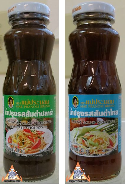 Som Tum Salad Dressing, Mae Pranom Brand, 7 oz bottle