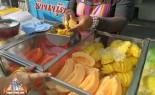 Thai Fresh Fruit Street Vendor