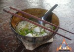 Thai Noodles Served in a Coconut Shell