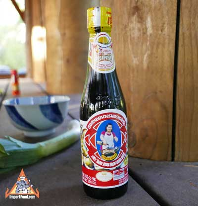 Thai Oyster sauce, Maekrua brand, 11.8 oz bottle