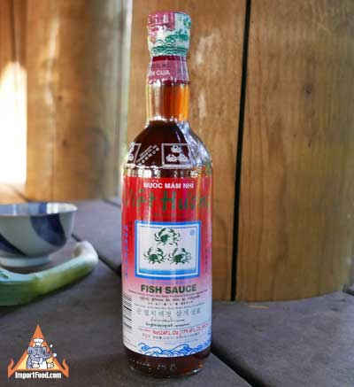 Three Crabs Fish Sauce, 24 oz bottle
