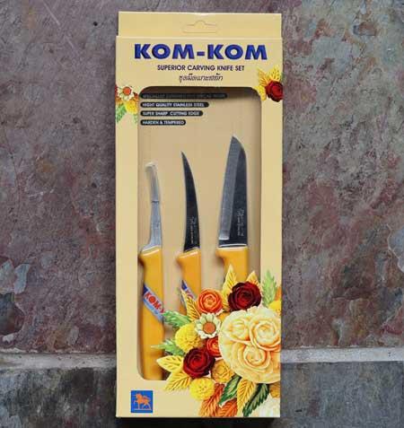 Kom-Kom Fruit & vegetable carving knife set, 3 piece