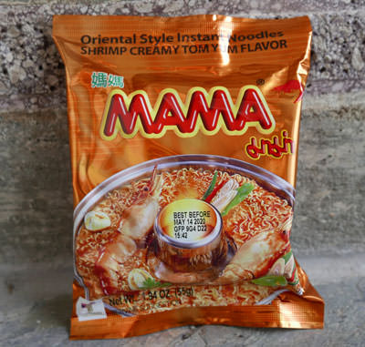 Mama brand, Tom Yum Creamy Shrimp