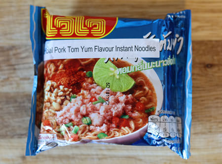 Wai Wai brand tom yum pork noodles