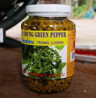 Young Green Thai Peppercorns