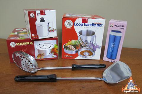 6 Piece Zebra Stainless Thai Cookware Set